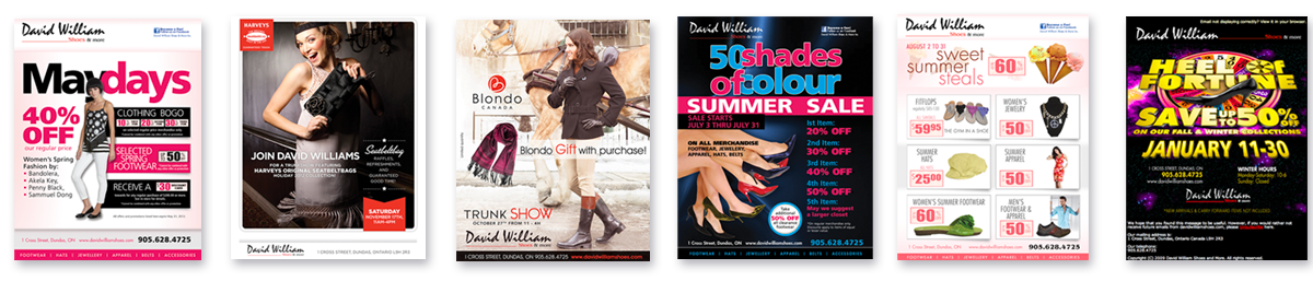 David William Shoes and More Flyers
