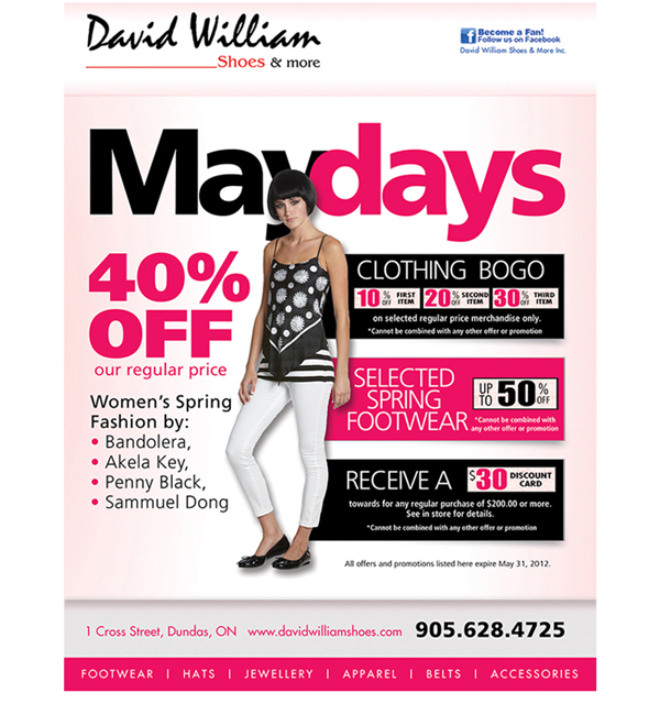David William Shoes and More Flyer