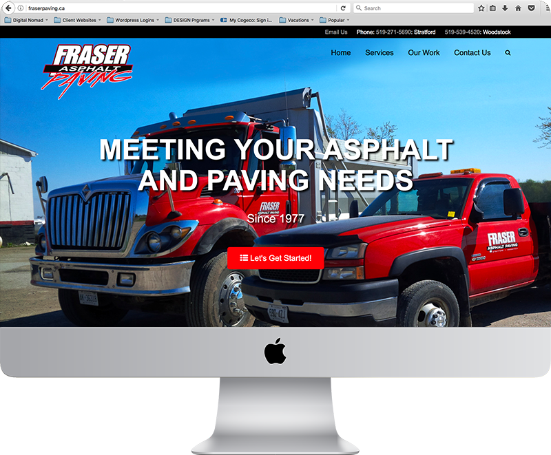 Fraser Paving Website