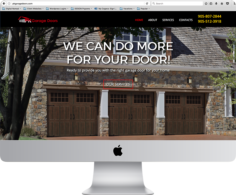 PK Garage Doors Website
