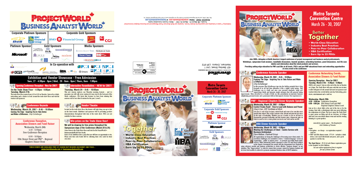 Project Word and Business Analyst World Brochure