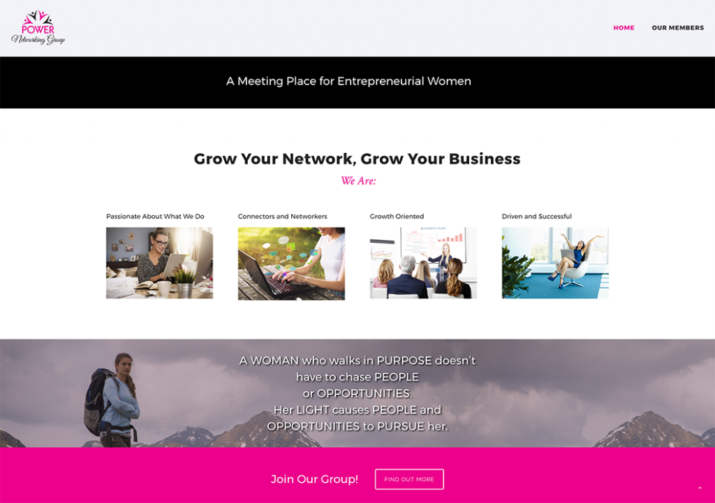 Power Networking Website Page
