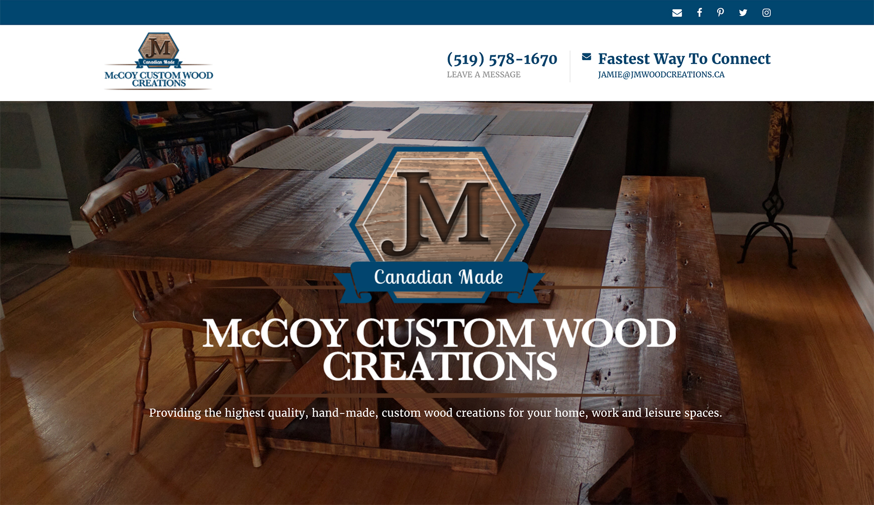 McCoy Website Screen Shot