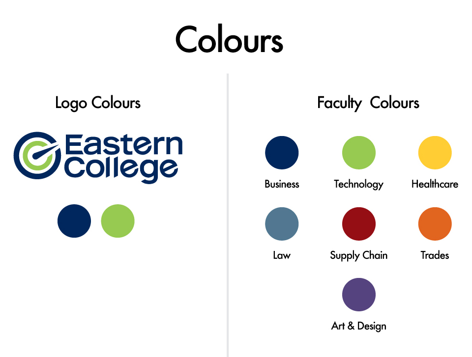 Eastern College Fonts and Colo